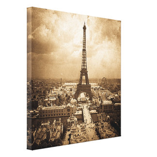 Exposition Universelle  Eiffel Tower 1900 Canvas Print