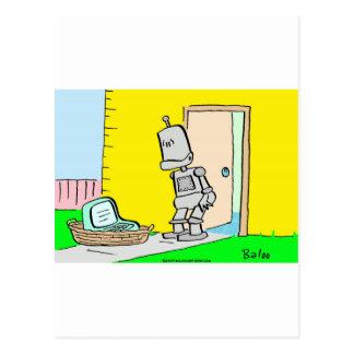 expósito del umbral del ordenador del robot tarjetas postales