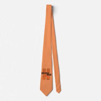 Exprese detrás el lazo anaranjado corbata
