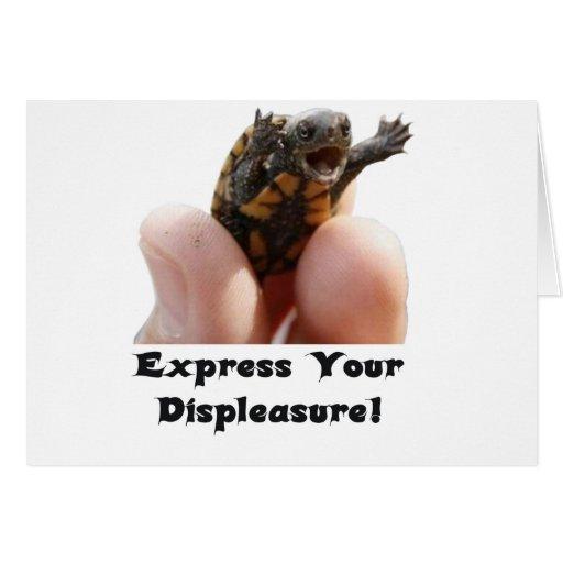 ¡Exprese su descontento! Tarjeta De Felicitación