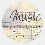 Exprésese con el pegatina de la música