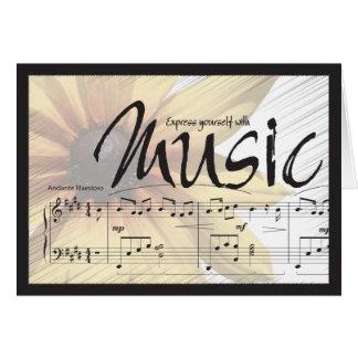Exprésese con la música Notecard Tarjeta De Felicitación