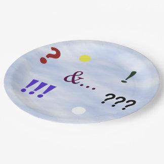 Exprésese la placa de papel plato de papel de 9 pulgadas