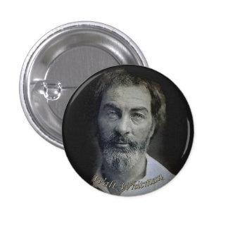 Expresión a los ojos de Walt Whitman Pin Redondo De 1 Pulgada