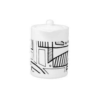 Expresión abstracta de Corolis blanco y negro