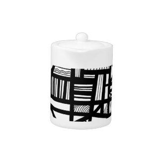 Expresión abstracta de Favro blanco y negro