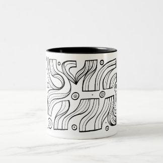 Expresión abstracta de Lajoy blanco y negro