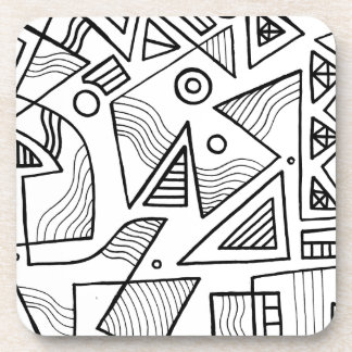 Expresión abstracta de Schwiebert blanco y negro Posavaso