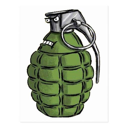 Expresión de la granada tarjeta postal