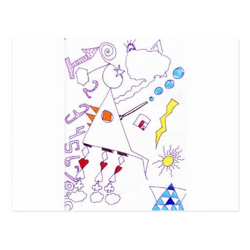 Expresión de la soldadura de la fantasía del oscil tarjeta postal