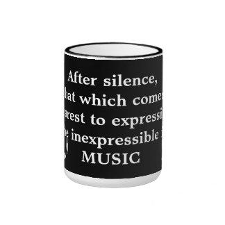 Expresión de la taza inexpresable de la música