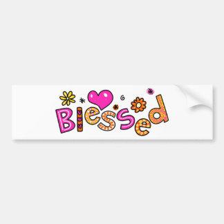 Expresión de saludo bendecida cristiano lindo del etiqueta de parachoque