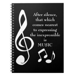 Expresión del cuaderno inexpresable de la música