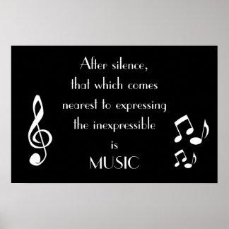 Expresión del poster inexpresable de la música