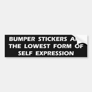 Expresión del uno mismo etiqueta de parachoque