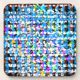 Expresión FELIZ de la vida: Arte abstracto del EMP Posavasos