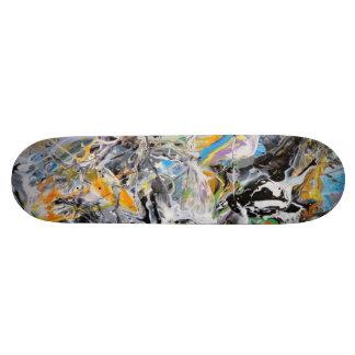 Expresión líquida del arte tablas de skate