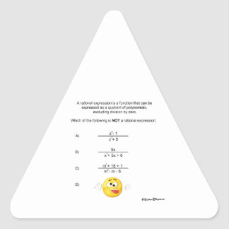 Expresión racional pegatina triangular
