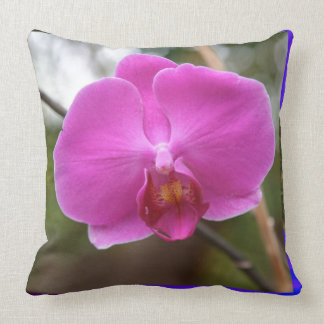 Expresión rosada del romance del amor de la flor cojin