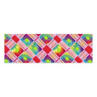 Expresión teñida lazo tarjetas de visita mini