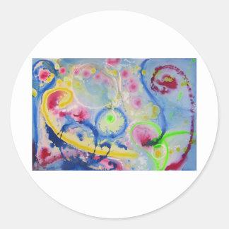 Expresión vibrante 3 pegatina redonda