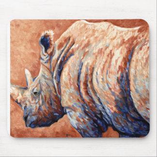 Expresiones africanas - rinoceronte azul alfombrilla de ratón