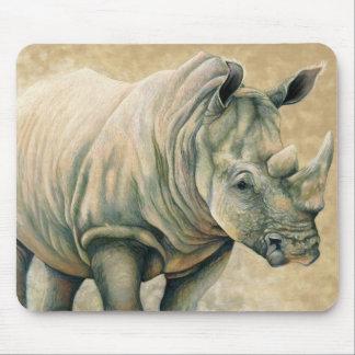 Expresiones africanas - rinoceronte blanco alfombrillas de ratones