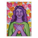 Expresiones de la tarjeta del uno mismo-amor