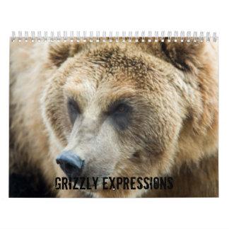Expresiones del grisáceo calendario