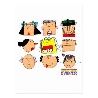 Expresiones faciales postales