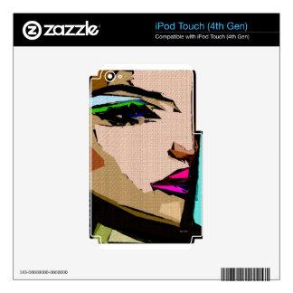 Expresiones femeninas 711 calcomanía para iPod touch 4G
