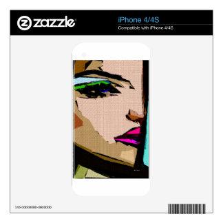 Expresiones femeninas 711 iPhone 4S skins
