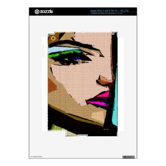 Expresiones femeninas 711 pegatina skin para iPad 3