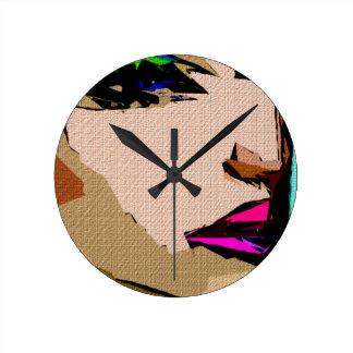 Expresiones femeninas 711 reloj redondo mediano