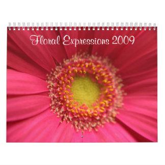 Expresiones florales 2009 calendarios de pared