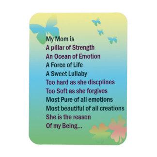 Expresiones para la mamá imán rectangular