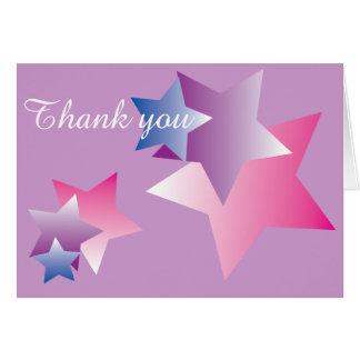 Expresiones simples de las estrellas hermosas tarjeta pequeña