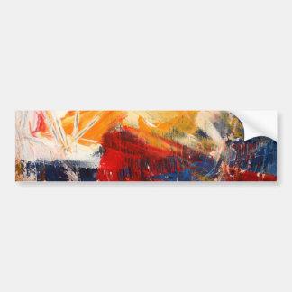 Expresionismo abstracto moderno pegatina para auto
