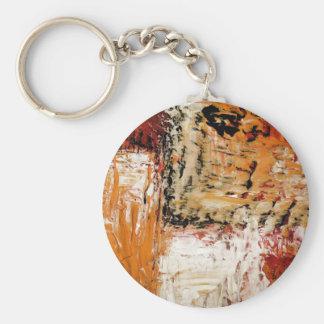 Expresionista abstracto llavero redondo tipo pin