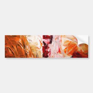 Expresionista abstracto pegatina para auto