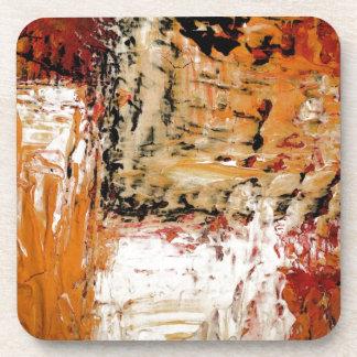Expresionista abstracto posavasos de bebidas