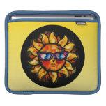 Expresionista colorido brillante Sun con las gafas Fundas Para iPads