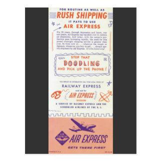 Expreso de aire por el ferrocarril expreso postales