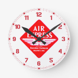 Expreso de aire por el reloj de pared expreso de