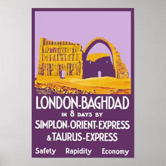Expreso de Londres - de Bagdad Oriente Póster