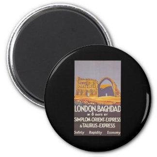 Expreso de Oriente del simplon de Londres Bagdad Imán Redondo 5 Cm