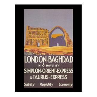 Expreso de Oriente del simplon de Londres Bagdad Tarjetas Postales