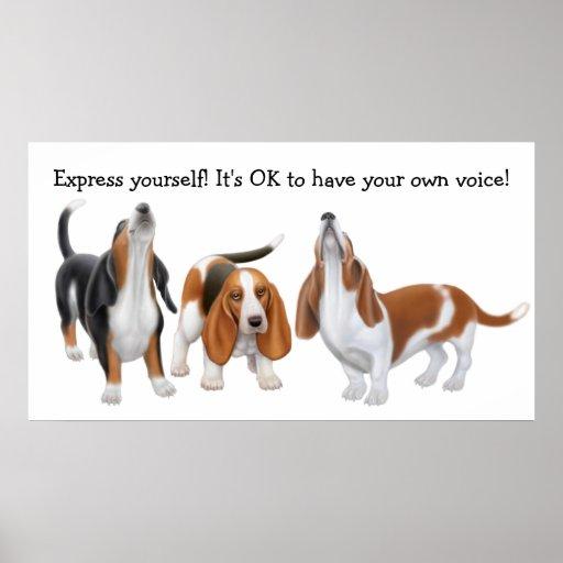Expreso usted mismo impresión de los perros de Bas Posters