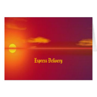Express Delivery - Justice Will Come Greeting Card