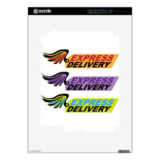 Express delivery sign with a wing decals for iPad 2